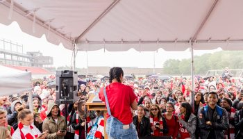 Red and White Day with Lilly Singh- York U-134
